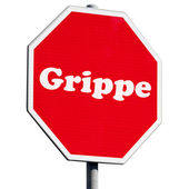 Grippe Stop Sign — Stock Photo