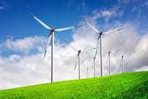 Fazenda de turbinas de vento — Fotografia Stock
