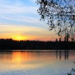 Sunset Lake - Stockfoto