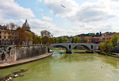 Tiber river, Rome — Stock Photo