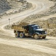 Transport trucks in the dolomite mine — Stock Photo