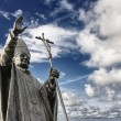Bronze statue of John Paul II - Stock Photo