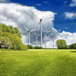 Spring power turbines - Stock Photo