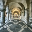 Ancient arcade, Saint Marco Square in Venice Italy — Stock Photo #4928046