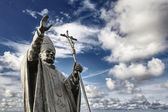 Bronze statue of John Paul II — 图库照片
