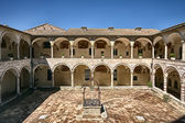 Courtyard,Basilica of St. Francis,Assisi — Stock Photo