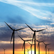 Stock Photo: Wind farm silhouette