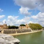 Tiber river in Rome — Stock Photo