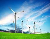Wind turbine farm — Stock Photo