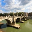 Tiber river in Rome — Stock Photo