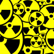 Radiation sign background — 图库照片