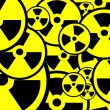 Radiation sign background - Stock Photo