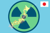 Earthquake Japan and the nuclear disaster — Stock Photo