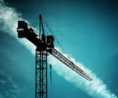 Building crane on sky — Stock Photo