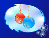 Christmass glass balls — Vector de stock
