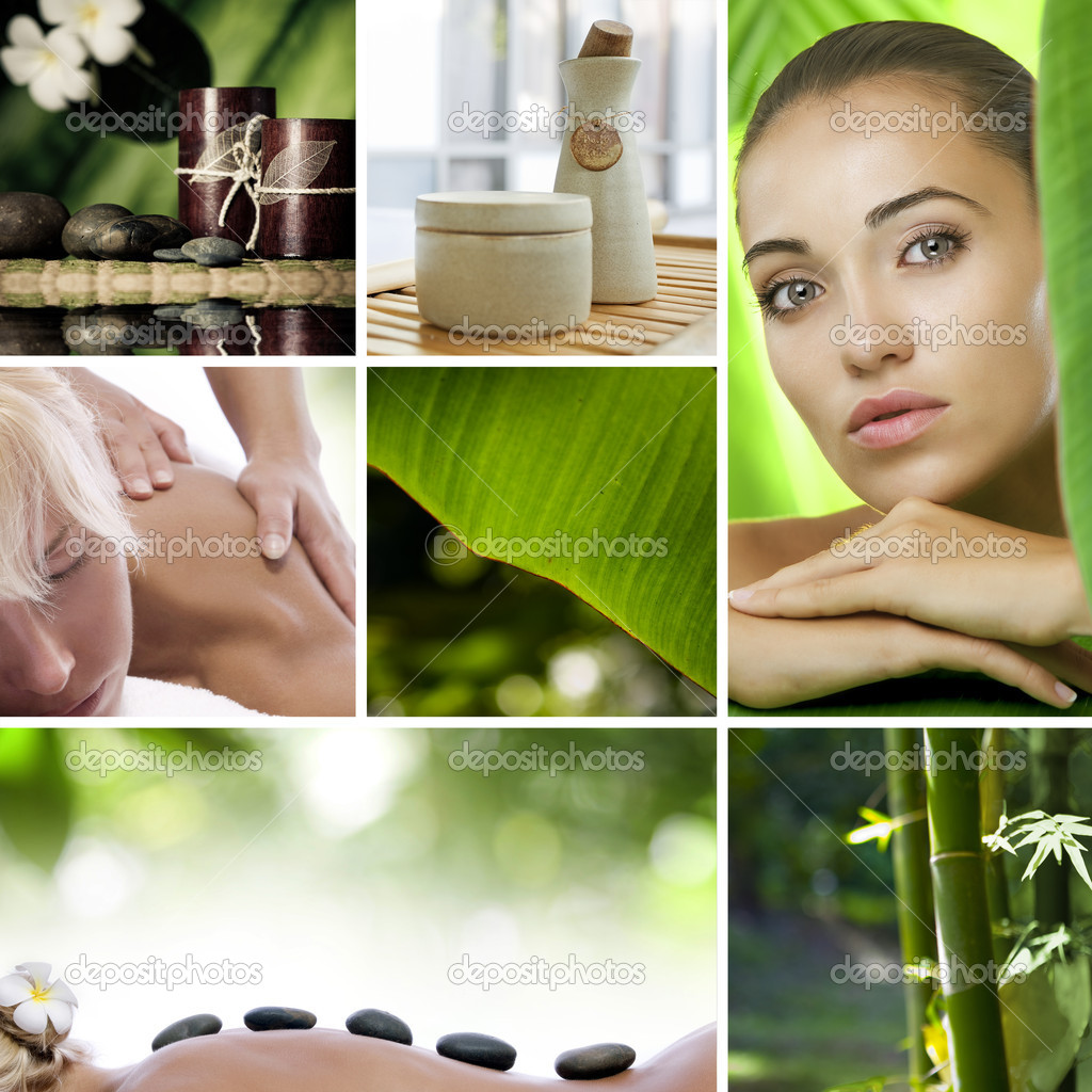 Spa theme  photo collage composed of different images — Stock Photo #4398356