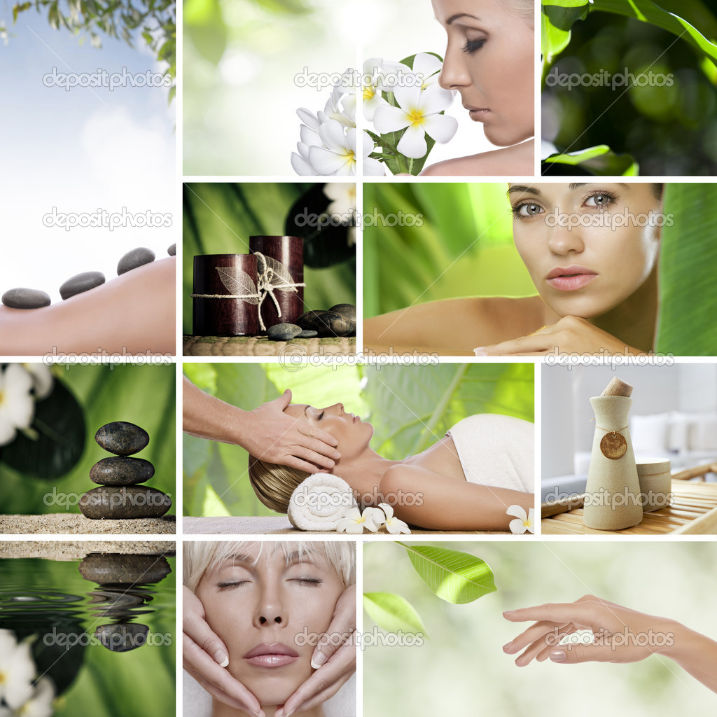 Spa theme  photo collage composed of different images — Stock Photo #4398882