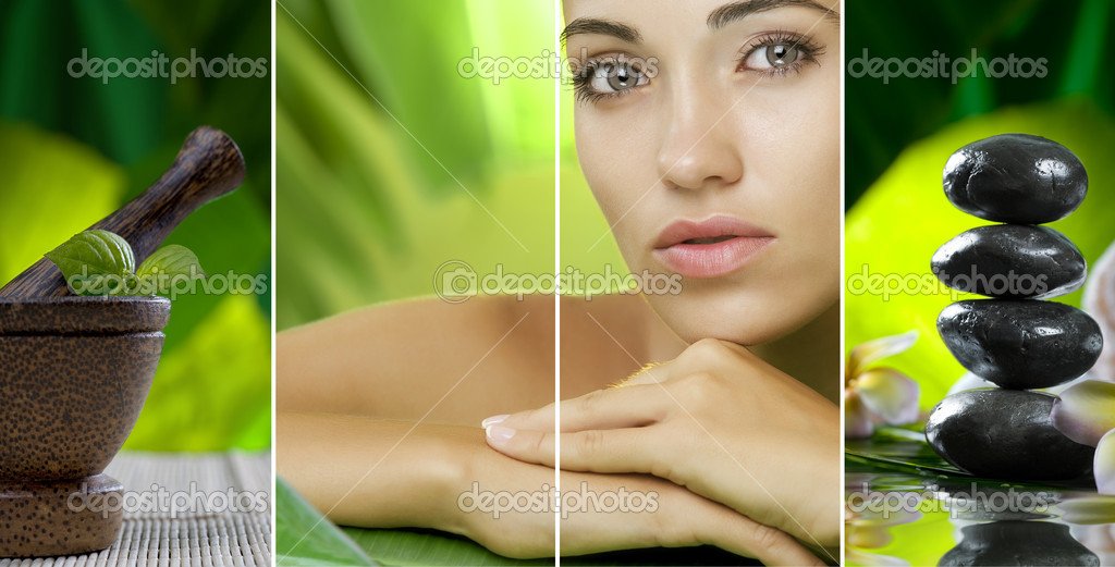 Spa theme  photo collage composed of different images — Stock Photo #4399154