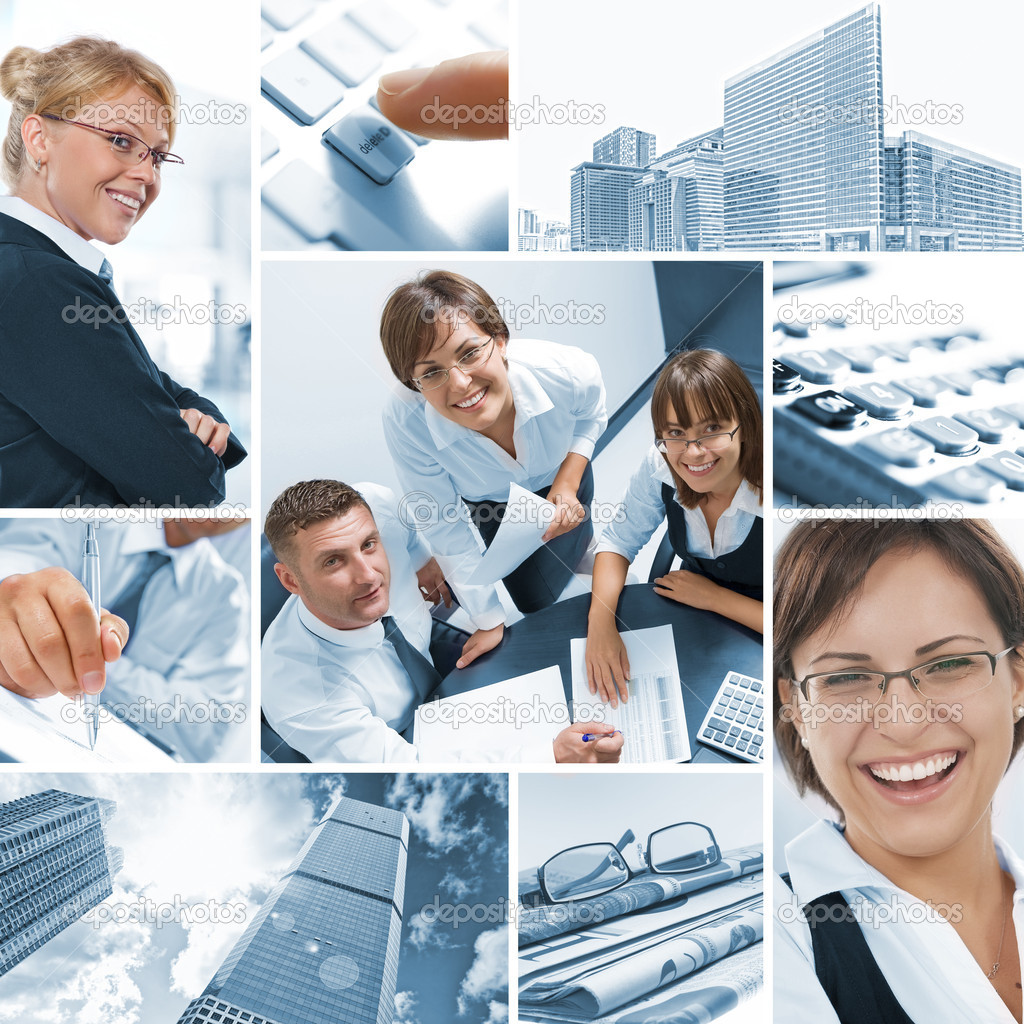 Business  theme  photo collage composed of different images — Stock Photo #4399172