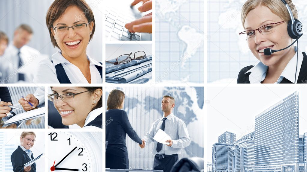 Business  theme  photo collage composed of different images — Stock Photo #4399411