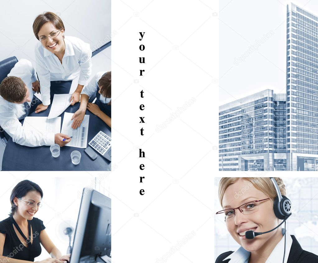 Business  theme  photo collage composed of different images — Stock Photo #4415215