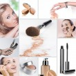 Royalty-Free Stock Photo: Makeup collage