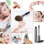Makeup collage — Foto Stock