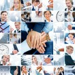 Business theme photo collage — Stok fotoğraf #4614653