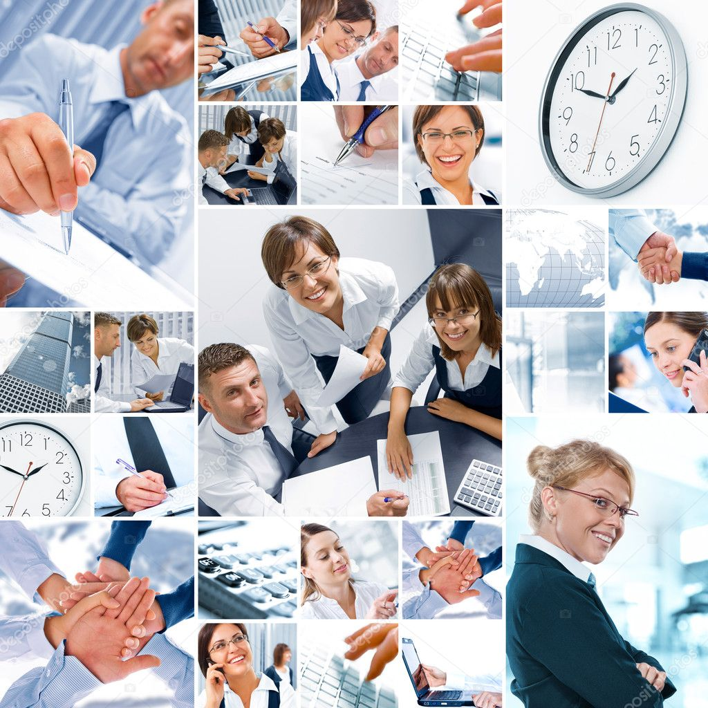Business  theme  photo collage composed of different images — Stock Photo #4672056