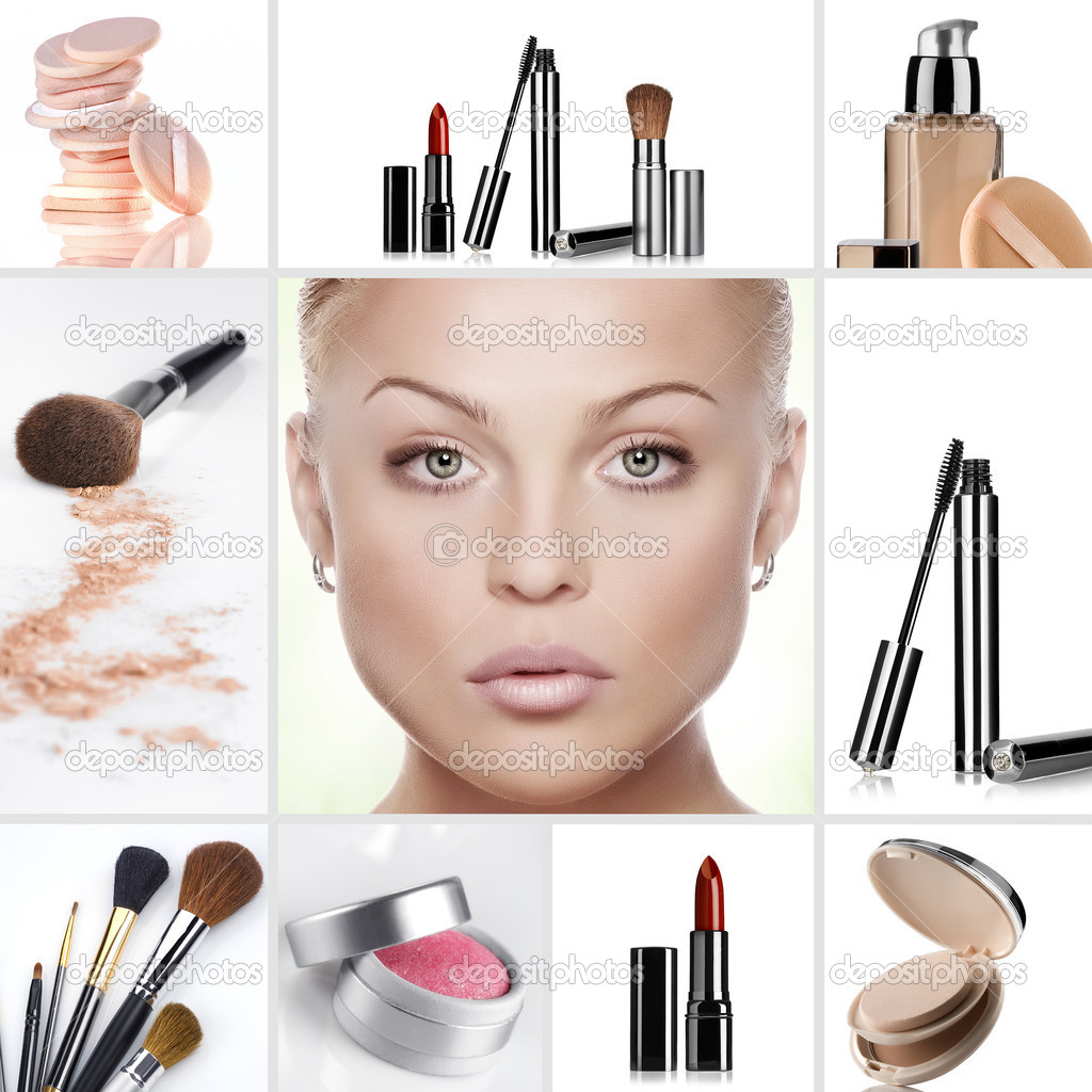 Beauty theme collage composed of different images — Stock Photo #4672075