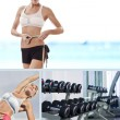 Fitness mix — Stock Photo