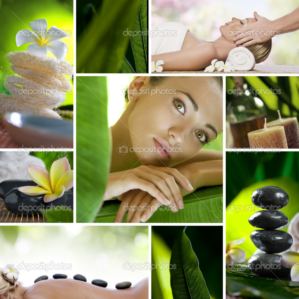 Spa theme  photo collage composed of different images — Stock Photo #5146446