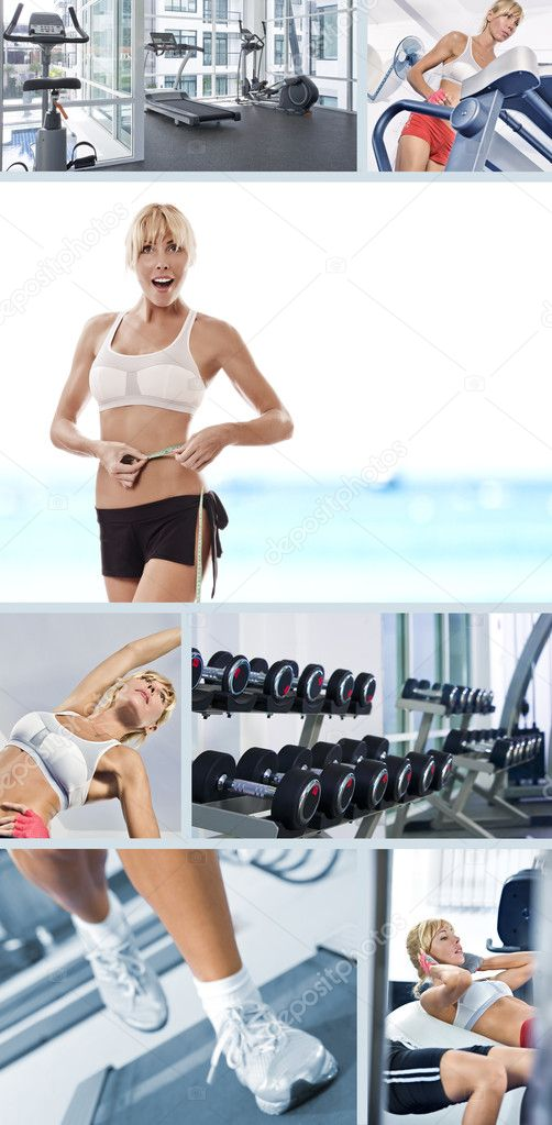 Healthy lifestyle  theme collage composed of different images — Stock Photo #5146478