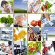 Wellbeing collage - Foto Stock