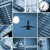 机场组合 — 图库照片