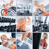 Im fitness-studio — Stockfoto