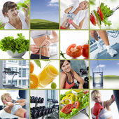 Wellbeing collage — Stock Photo