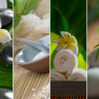 Close up view of spa theme objects on natural background - Stock Photo