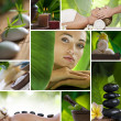 Foto Stock: Spa theme photo collage composed of different images