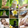 Spa theme photo collage composed of different images — Stock fotografie