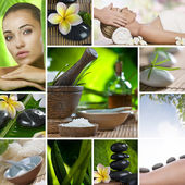 Spa theme photo collage composed of different images — Stockfoto