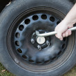 Wheel change — Stock Photo