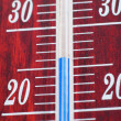 Mercury thermometer - Stock Photo