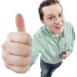 Happy young man gesturing OK sign — Stock Photo #5012988