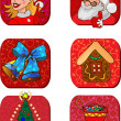 Christmas characters and gifts — Stock Vector