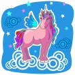 Unicorn Pegasus Vector Illustration — Stock Vector #4531410