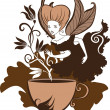 Coffee Fairy — Stock Vector