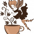 Stock Vector: Coffee Fairy