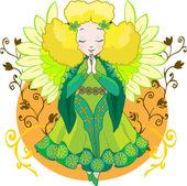 Cute Angel cartoon vector — Stock Vector