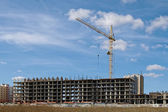 Building with a crane — Stock Photo